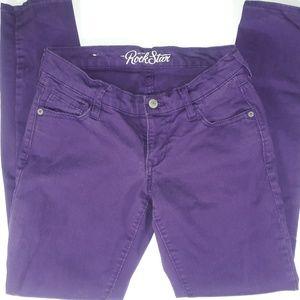 Old Navy Purple Rockstar Skinny Jeans